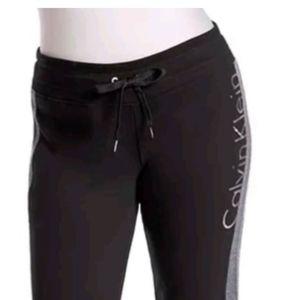 Calvin Klein Black Performance Logo Sweatpants